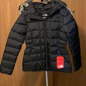 The North Face Puffer Coat with Fur Hood